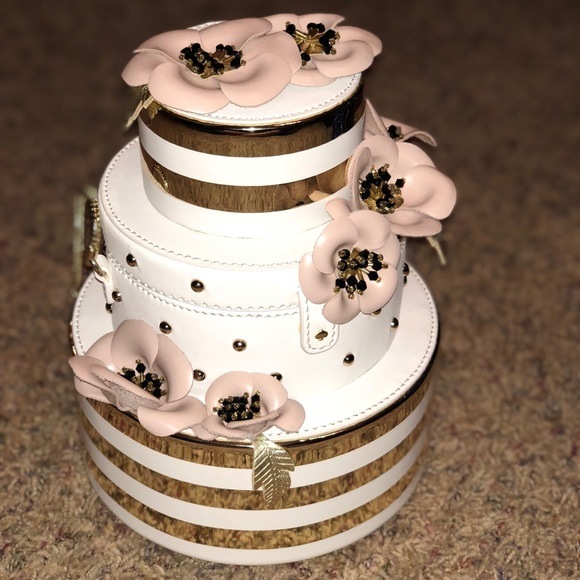 kate spade Bags Wedding Belles Flower Wedding Cake Bag Poshmark